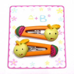 Barrette enfant clic clac fruit - orange