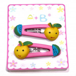 Barrette enfant clic clac fruit - rose