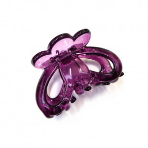 Pince cheveux crabe simple 6.5cm - violet