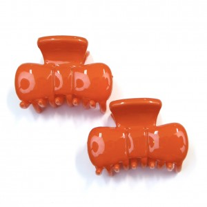 Pince cheveux crabe 2pcs 3cm - orange