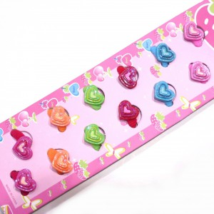 Barrette mousse enfant coeur lot de 12pcs