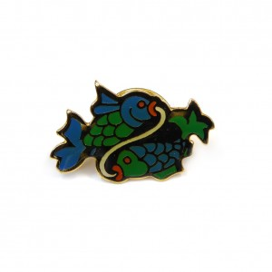 Pins badge zodiaque for Prix poisson rouge 15 cm