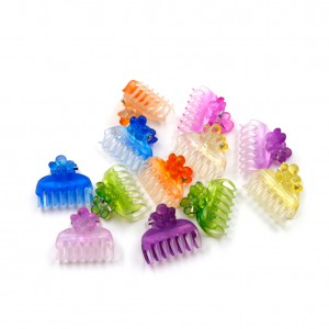 Lot de 24 mini pinces crabe cheveux enfant 20mm couleurs assorties