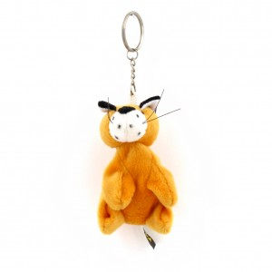 porte clef tigre 10cm orange