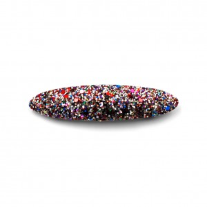Barrette cheveux paillettes ovale 9,5cm - multicolore