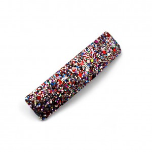 Barrette cheveux paillettes rectangulaire 9cm - multicolore