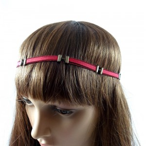 Headband cheveux - rouge
