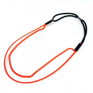 Headband/bandeau/bijou de cheveux double rangs - orange fluo