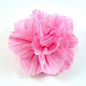 Broche fleur/pince cheveux mariage - rose