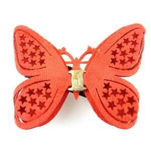 Pince cheveux papillon - orange