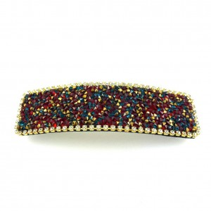 Barrette cheveux en strass - multicolore