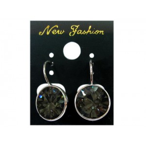 Boucles d'oreilles crystallized swarovski black diamond