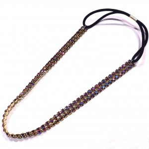 Headband strass - doré