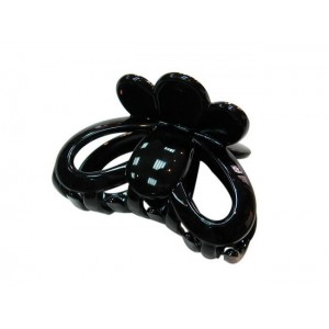 Pince cheveux crabe simple 6.5cm - noir