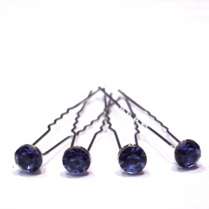 Epingle cheveux en cristal 4pcs - tanzanite