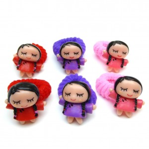 Elastique/mousse enfant poupée lot de 6pcs 3 couleurs assorties