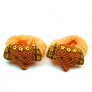 Elastique/mousse enfant éléphant 2pcs - orange