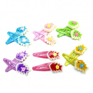 Clic clac barrette cheveux enfant motif poisson lot de 12pcs