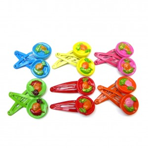 Clic clac barrette cheveux enfant motif fruits lot de 12pcs
