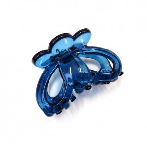 Pince cheveux crabe simple 6.5cm - bleu