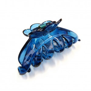 Pince cheveux crabe simple 9.5cm - bleu