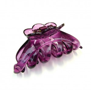 Pince cheveux crabe simple 9.5cm - violet