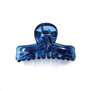Pince cheveux crabe simple 6.8cm - bleu